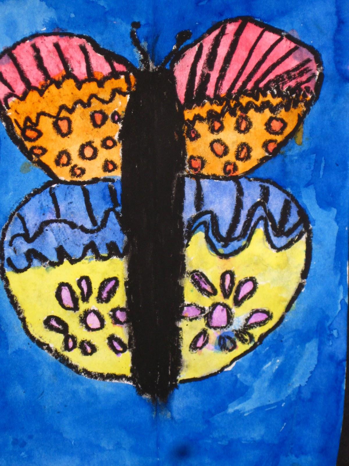 Lines Dots And Doodles Symmetrical Butterflies 2nd Grade