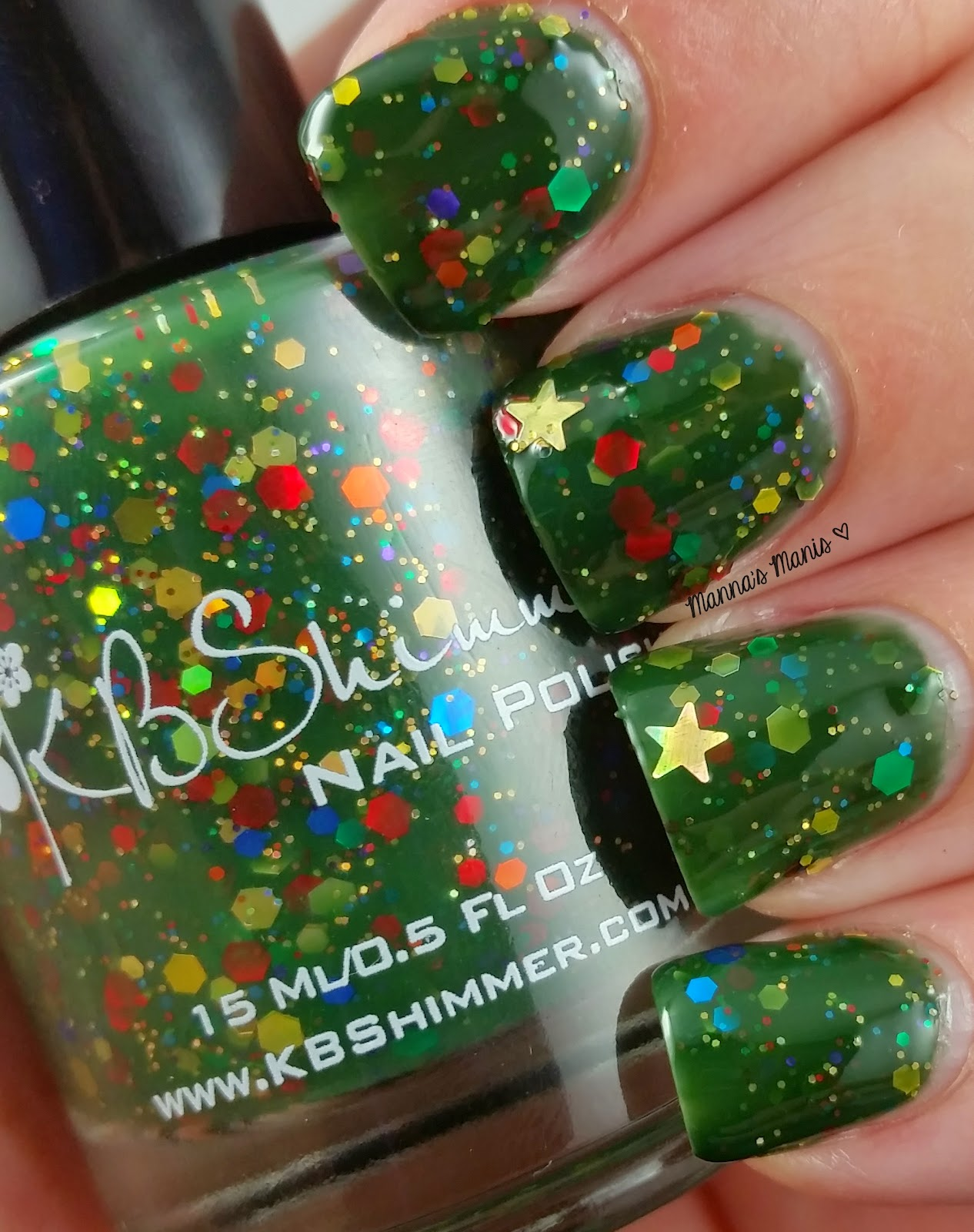 kbshimmer all decked out, a green jelly nail polish