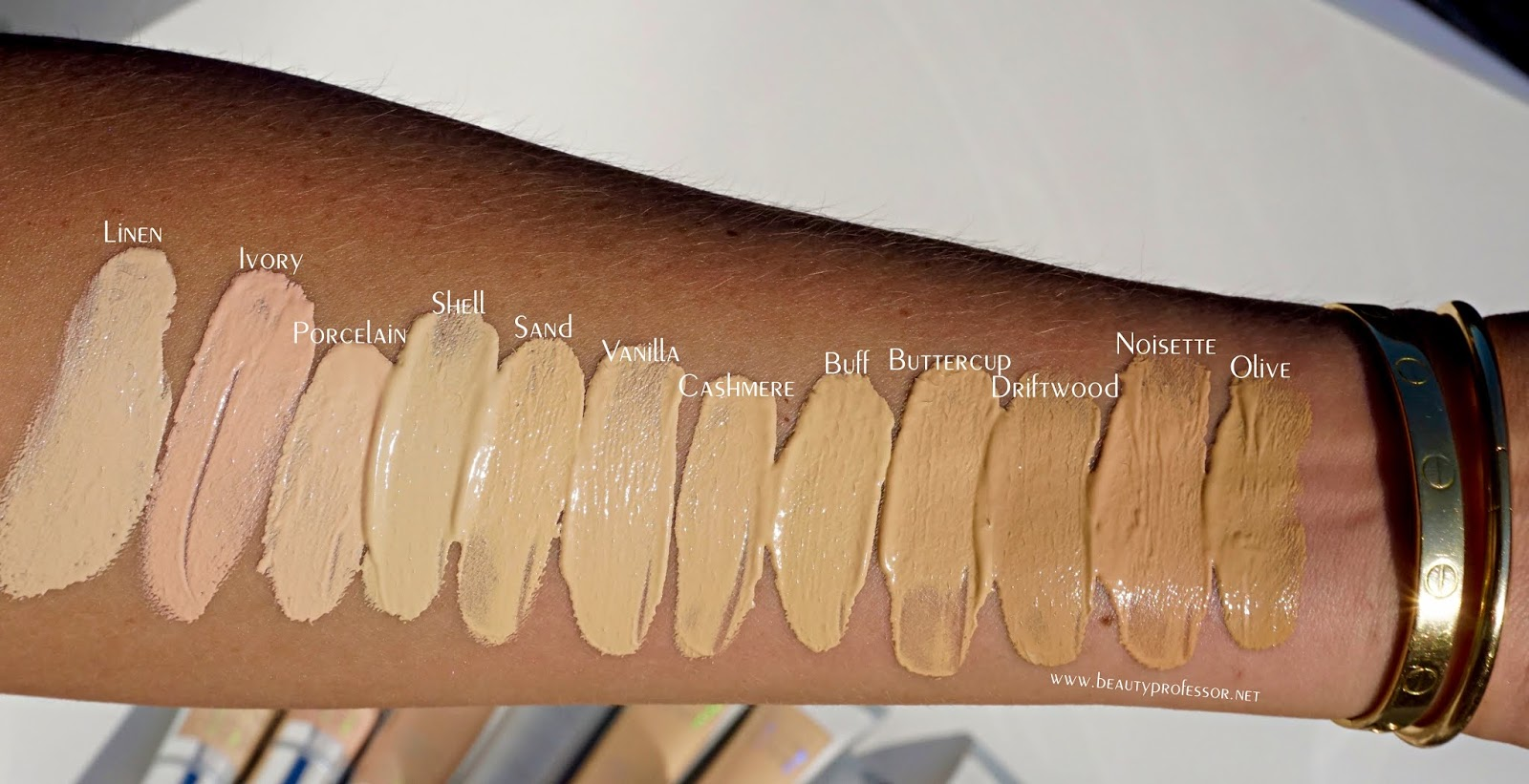 becca skin love weightless blur foundation swatches