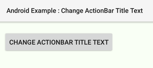 android - How to change ActionBar title programmatically