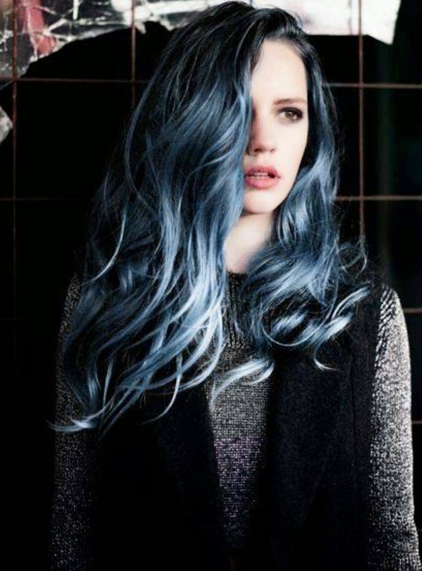 black 'n' blue hairstyles!