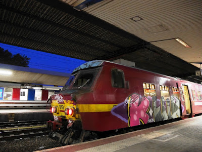 Trains en gare de Charleroi Sud