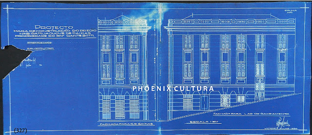 Projeto para reconstrução de prédio à rua Duque de Caxias n. 81, Centro, Vitória, proprietário: Dante Botti, julho de 1930.