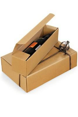 Tus botellas estarán seguras en una caja de mudanza hecha de cartón.