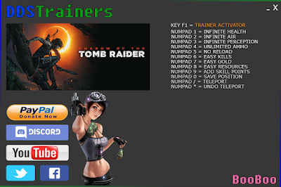 Shadow Of The Tomb Raider Trainers and Cheats for PC