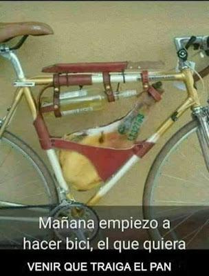 Mañana empiezo a hacer bici, el que quiera venir que traiga el pan