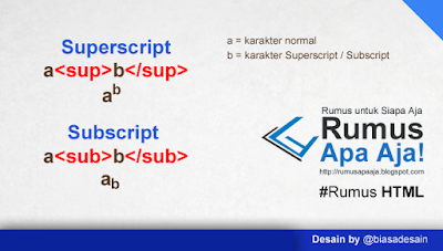 Superscript dan Subscript