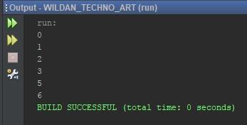 Contoh program menggunakan Keyword Continue