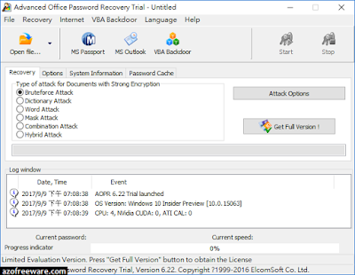 Advanced Office Password Recovery (AOPR)
