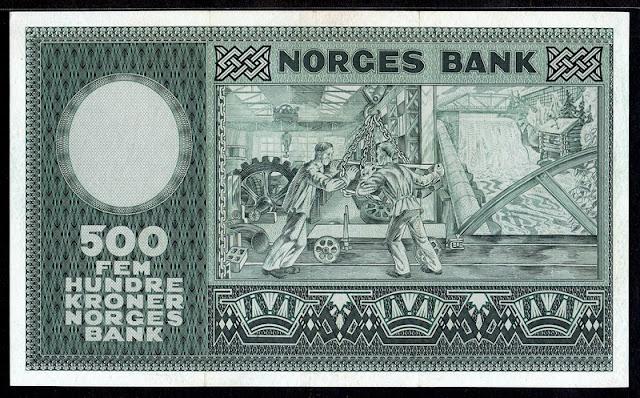 Norway money 500 Kroner banknote