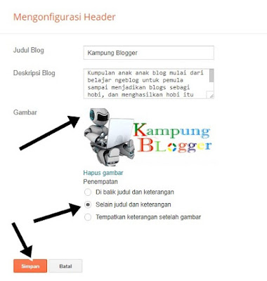 Upload gambar logo