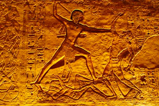 Ramses II Defeating His Enemies Abu Simbel Temple Egypt