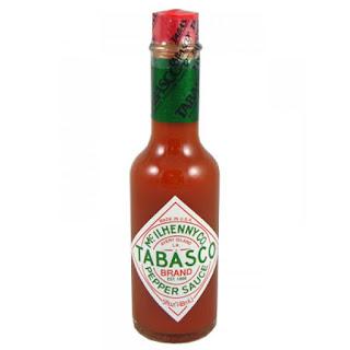 Bottle of Tabasco pepper hot sauce