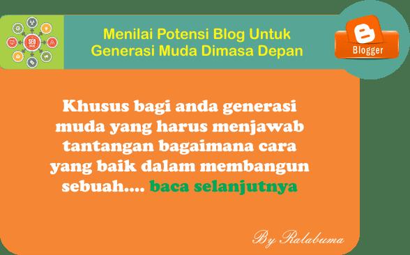 Potensi Blog Untuk Generasi Muda Dimasa Depan
