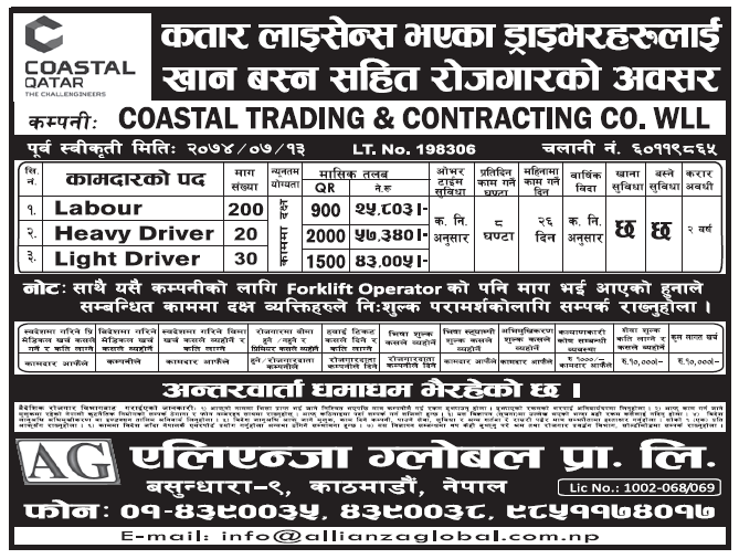 Jobs in Qatar for Nepali, Salary Rs 57,340