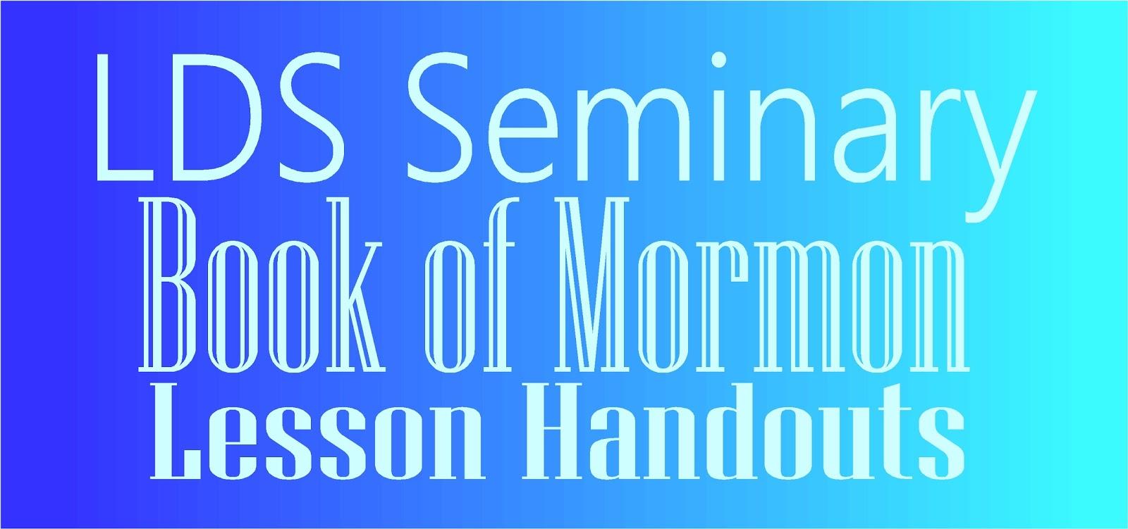 Book Of Mormon Quotes Hollyshome  Church Fun Lds Seminary Book Of Mormon Lesson Handouts