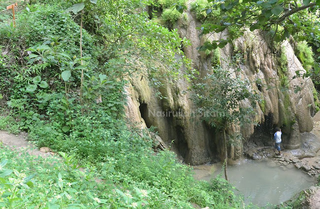 Debit air di Curug Goan Kebon sudah sedikit