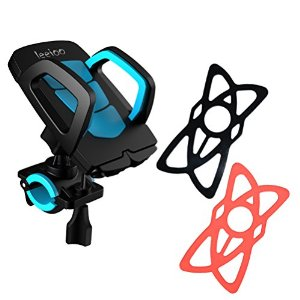 Leeioo Bike Mount Note 5,Bike Mount Universal With Security Rubber Band 360 Degree Rotation For Iphone 6/6s/6s plus/5/5s/Samsung Galaxy S7 Edge/S6/S6 Galaxy Note 5/Nokia/HTC (Bike phone holder)