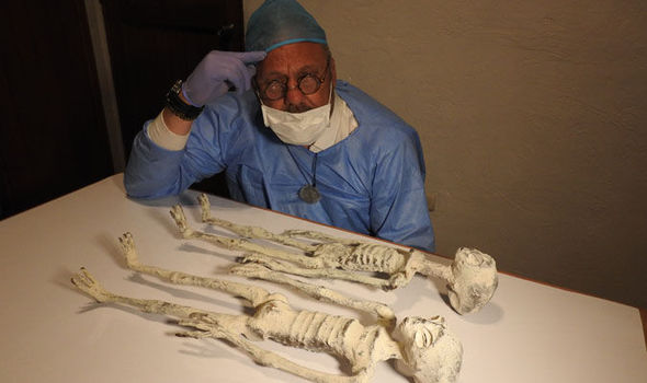 Nazca in Peru has a lot of Alien mummies.