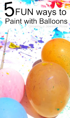 5 FUN Ways to Paint with Balloons