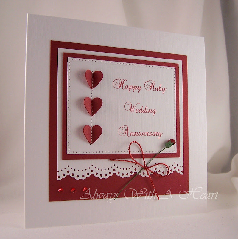 always with a heart ruby wedding anniversary