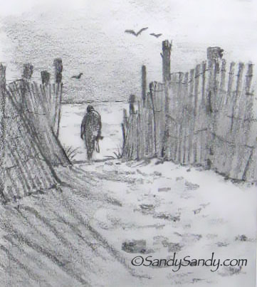 *Drawing Everyday*: Ocean View Landscape
