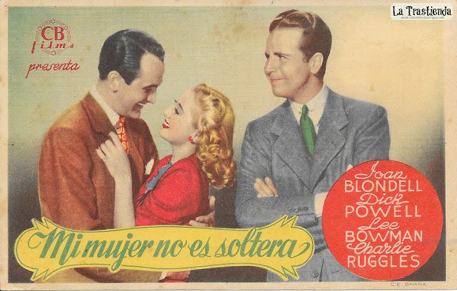 Mi Mujer no es Soltera - Programa de Cine - Joan Blondell - Dick Powell