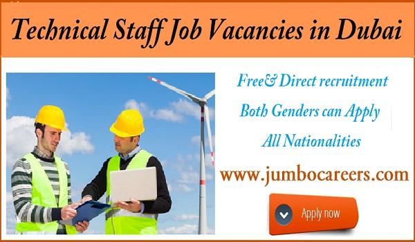 Diploma jobs in Dubai with salary, Details of technical jobs in Dubai,