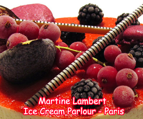 Martine Lambert Ice Cream Parlor in Paris