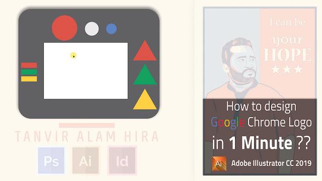 How to design google chrome logo?