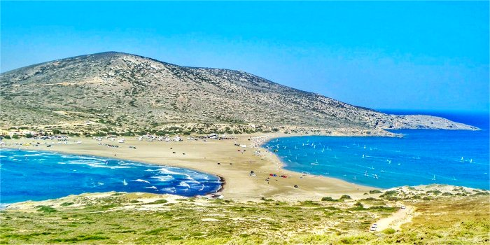Spiaggia di Prassonisi, isola di Rodi, Grecia