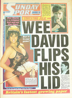 Maria Whittaker appears on the front cover of the Sunday Sport newspaper