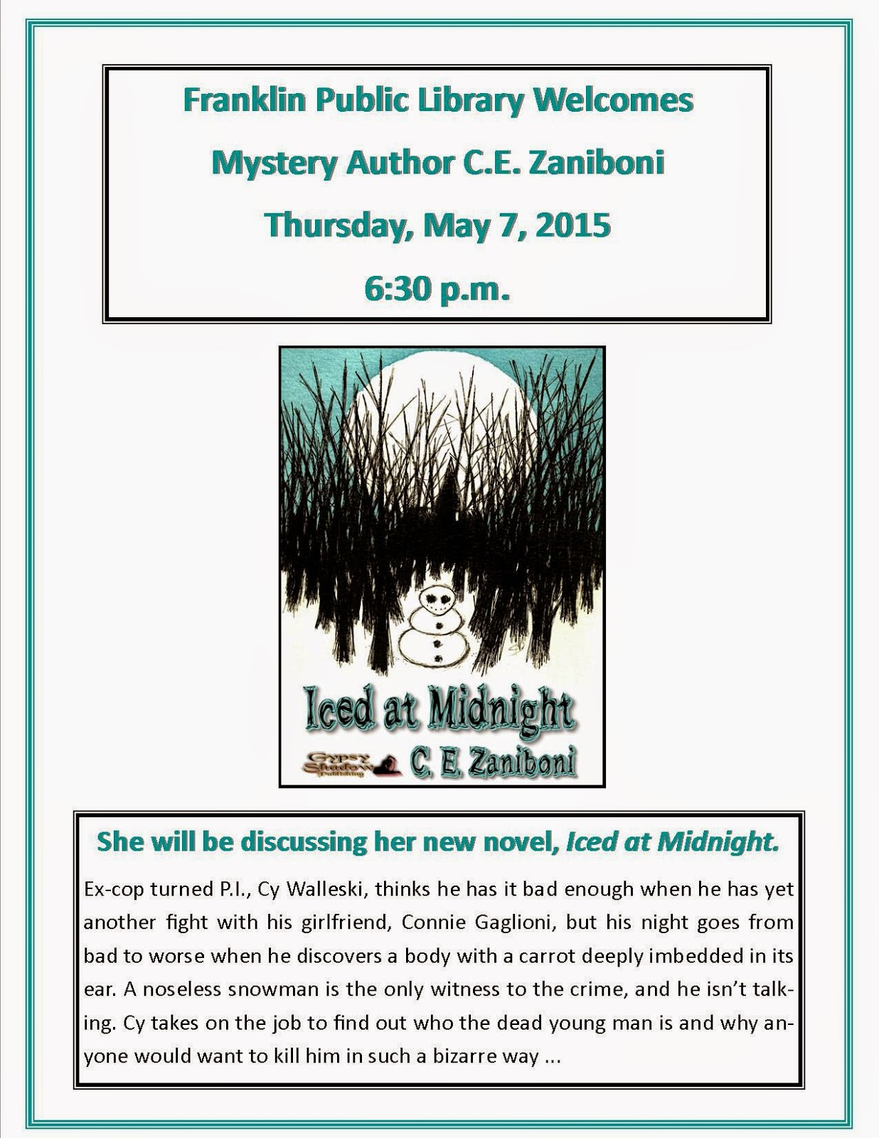 Author C.E. Zaniboni - May 7th