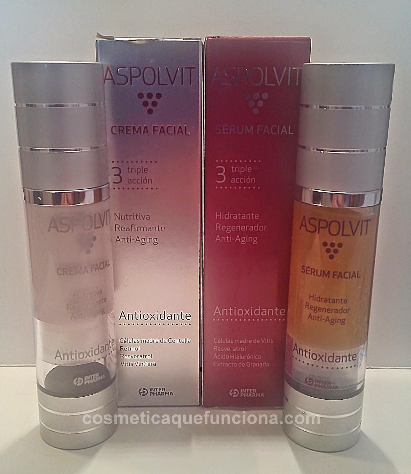 Serum y crema Aspolvit. Mi nuevo tratamiento anti-aging - Blog de Belleza Cosmetica que Si Funciona