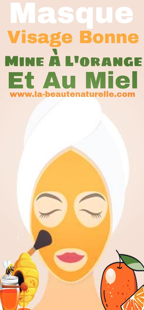 Masque visage bonne mine à l'orange et au miel