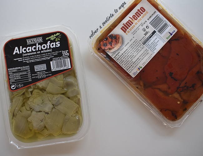 Alimentación Saludable - Verduras Envasadas con Aceite de Oliva de Mercadona