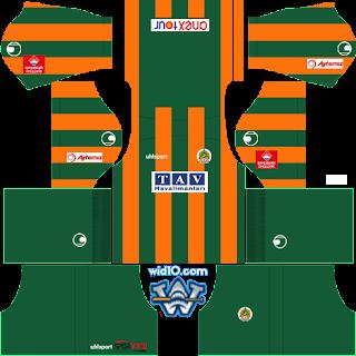 Alanyaspor 2018 - 2019 DLS/FTS Forma Kits ve Logo
