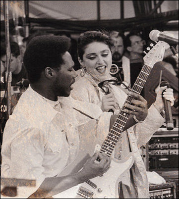 Madonna and Nile Rodgers live aid 85