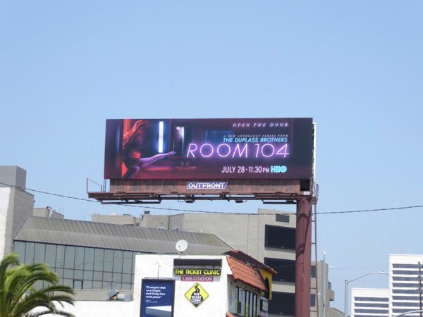 Room 104 launch billboard