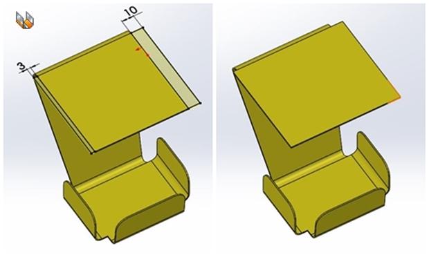 Añadir material con la operación brida-base/pestaña