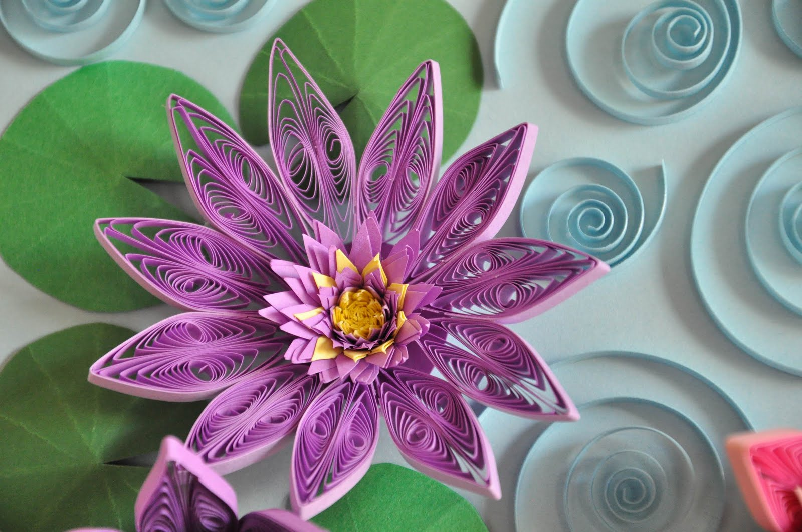 Quilling Lotus Flower Gardening Flower And Vegetables