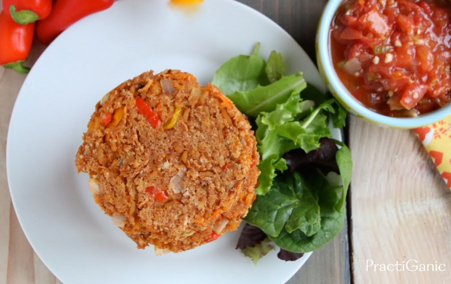 Leftover Refried Beans & Rice Burgers