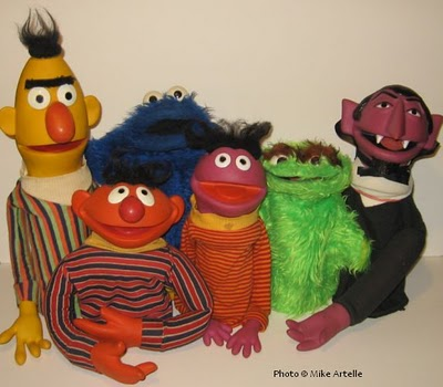 Mikey's Muppet Memorabilia Museum: Sesame Street Toy Puppets