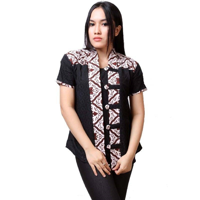 20 Baju Batik Lengan Pendek Modern 2019 yang Mempesona