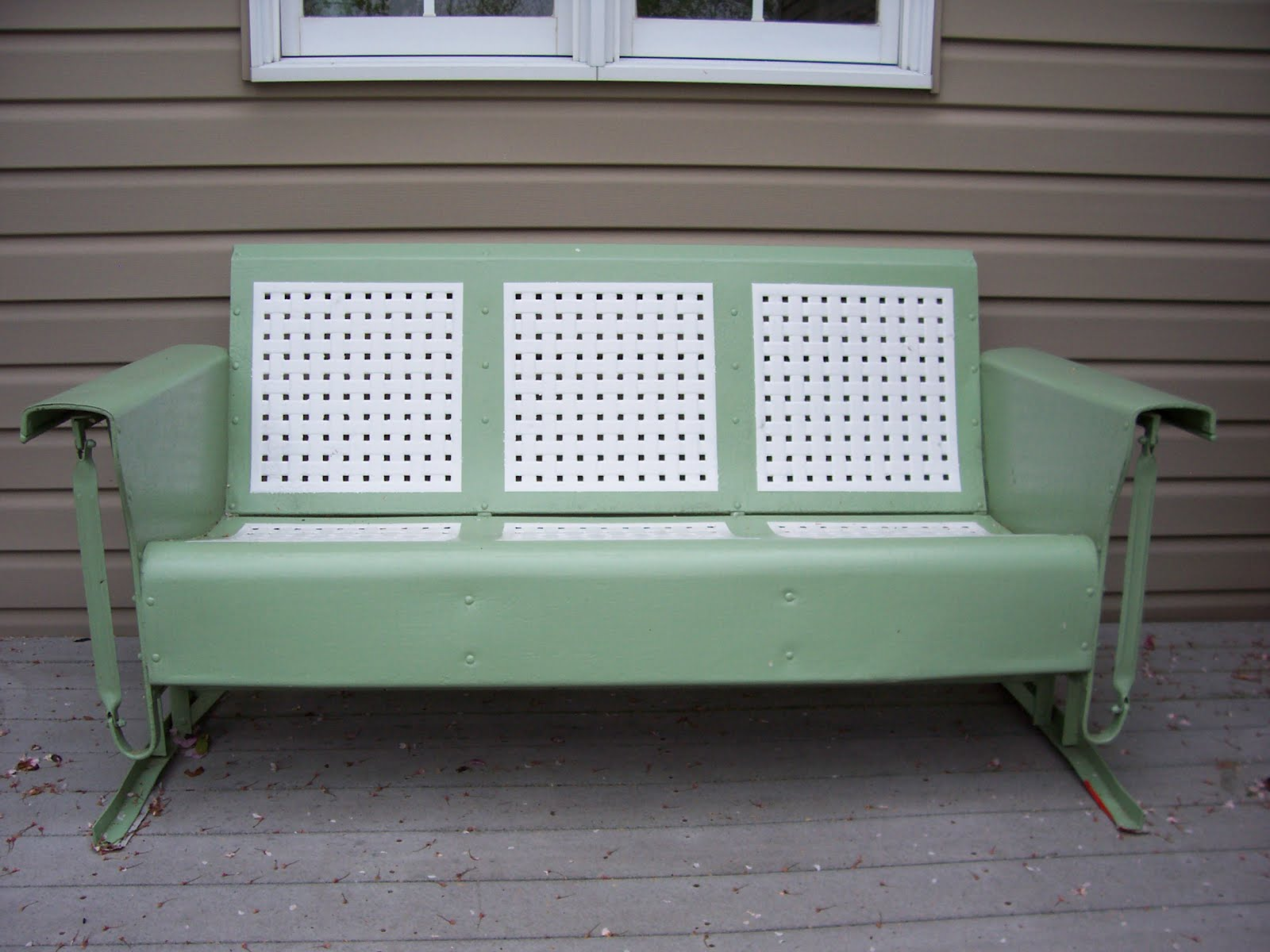metal glider sofa cheap sets under 300 vintage porch bing images