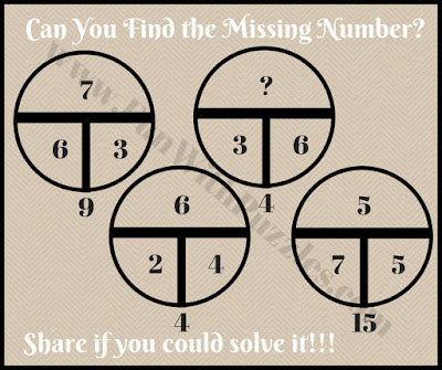 Easy math circle picture puzzle