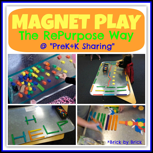 Magnet Play the RePurpose Way at PreK+K Sharing