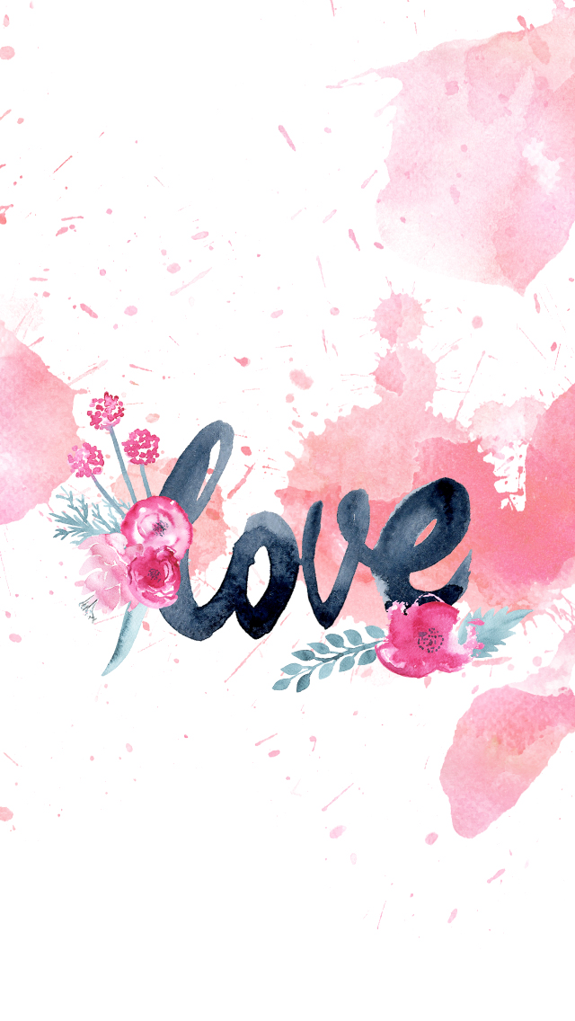 DLOLLEYS HELP: Free iPhone 5s Love Watercolor Wallpapers