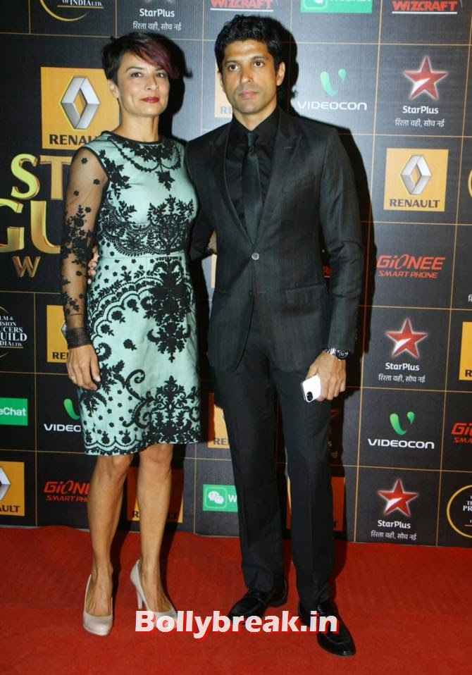 Farhan and Adhuna Akhtar, Star Guild Awards 2014 Pictures