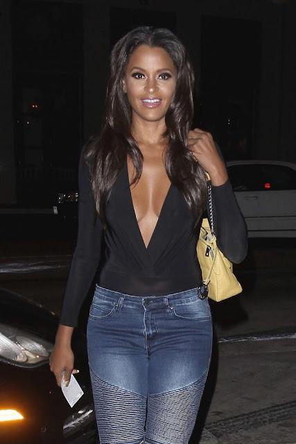 Claudia Jordan in Jeans out in LA